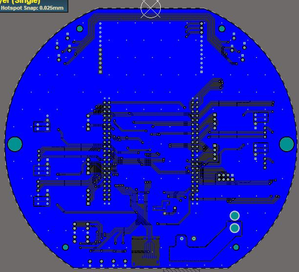 Mother board pcb 2d bot 0605