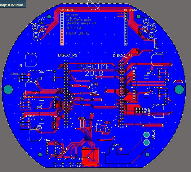 Mother board pcb 2d bot 1005